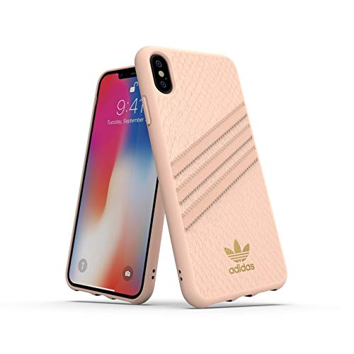 Adidas Originals - Custodia sagomata per iPhone XS Max, colore: Rosa