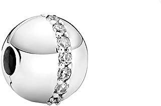 PANDORA Sparkling Line Clip 925 Sterling Silver Charm - 799403C01