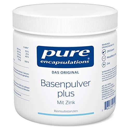 Pure Encapsulations - Basenpulver plus - Nahrungsergänzungsmittel mit Zink für den Säure-Basen-Haushalt und mit wertvollen Mineralstoffen