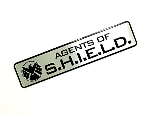 Agents Of Shield Cosplay Voiture Métal Sticker Autocollant Fan Badge (Argent)