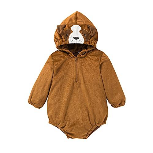 Sheey Mono de Felpa de Manga Larga con Capucha para Bebé con Estampado de Osos Tigre Panda Ropa Niñas Niños Infantil Chico Chica Recién Nacido Otoño Invierno Chaqueta Abrigo Jersey