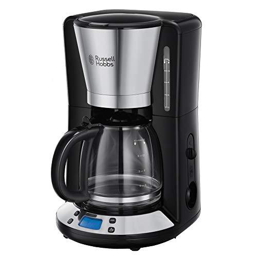 Russell Hobbs Digitale Kaffeemaschine Victory Edelstahl, programmierbarer Timer, 1,25l Glaskanne, bis 10 Tassen, Warmhalteplatte, Abschaltautomatik, 1100W, Filterkaffeemaschine 24030-56