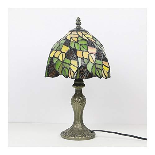 Tiffany manchado del estilo de mesa de cristal de la lámpara de la libélula hecha a mano escritorio al lado dormitorio lámparas antiguas de la lámpara de noche lámpara-