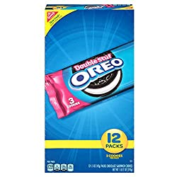 Oreo Double Stuf Full-Size Chocolate Sandwich Cookies, 12 Count Individual Snack Packs
