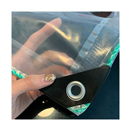 LXHONG Lona Transparente, Resistente Al Agua, Red De Cortina De PVC para Patio Interior Estacionamiento 150 Gramos, Personalizable (Color : Claro, Size : 6x8m)