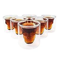 Feine Kristall Totenkopfgläser in verschiedenen Größen. Ideal für Partys, Bar, oder zum Vortrinken Temperatur unempfindlich und leicht zu reinigen Material: Glas Stil: Schädel, Kreative Kapazität: 25 ml Farbe: Transparent