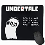Mouse Mat with Designs Undertale Napstablook Sorry Mousepad Gaming Mouse Pad Natural Rubber 25X30 cm