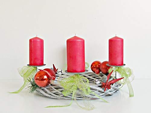 Adventskranz Weide Silber Holzstern Advent Weihnachten Kranz Gold Advent Sterne Kugeln
