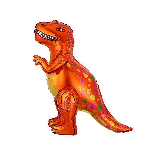 風船 HCHW 4Dウォーキング恐竜箔風船動物風船子供恐竜誕生日パーティーの装飾バルーンティラノサウルスオレンジ