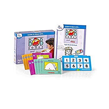 hand2mind Learn to Read with BOB Books & VersaTiles Sight Words Set Early Reader Books for Kids Ages 4-6 10 BOB Books Workbook & Answer Case Homeschool Kindergarten Supplies