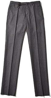 INCOTEX インコテックス [秋冬] パンツ 30 Slimfit Super'120s ウールフランネル ノープリーツ ダークグレー