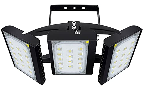 STASUN 300W LED Flood Light, 27000lm Super Bright Outdoor Security Lights with 330°Wide Lighting Area, OSRAM LED Chips, 6000K Daylight, IP66 Waterproof Exterior Court Street Parking Lot Lighting