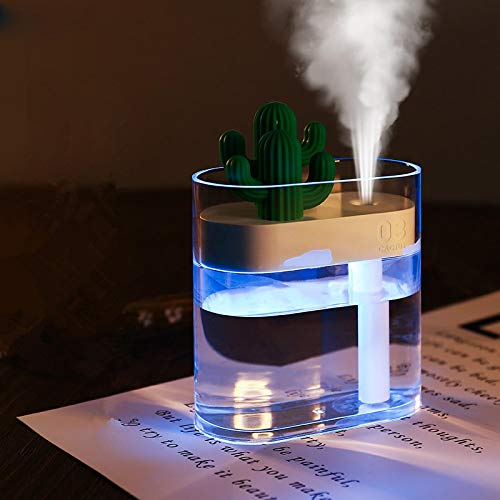 Humidificadores Difusor Aceites Esenciales Humidificador De Aire USB Ultrasónico Cool Mist Maker Fogger con Luz Led Home Mini Aromaterapia Difusor De Aceite Esencial