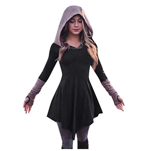 Fantastic Deal! Womens Medieval Dress, Ladies Party Cosplay Costume Long Sleeve Patchwork Pleated Pu...