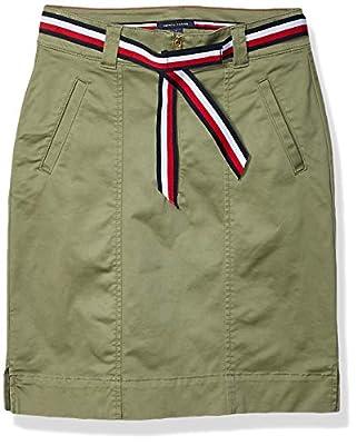 Tommy Hilfiger Women's Adaptive Skirt with Velcro Brand Closure, Deep Lichen Green, 2