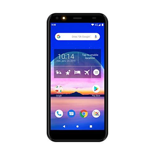 Portable - Smartphone - Téléphone portable - Logicom Le Prime Smartphone débloqué 4G (Écran : 5,45 Pouces - 32 Go - Double Sim - Android 9 Pie Google Certified) Noir
