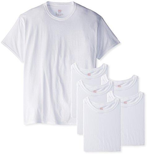 Hanes FreshIQ Herren-T-Shirts, geruchshemmend, 5er-Pack - Weiß - Mittel