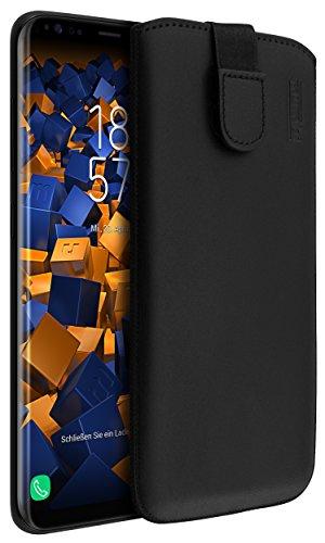 mumbi Echt Ledertasche kompatibel mit Samsung Galaxy Xcover 4 / 4s Hülle Leder Tasche Hülle Wallet, schwarz
