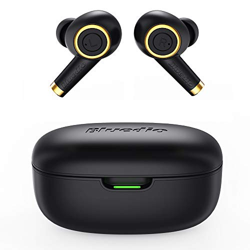 Bluedio TWS Wireless Earbuds P Particle, True Wireless Bluetooth Earbuds Earphones with Charging Case /35 Hrs Playtime/Built-in Mic/Waterproof/Face Recognition for All Smartphone/Bluetooth Devices