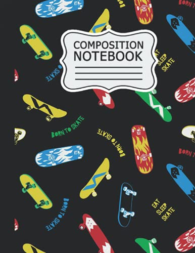 Compare Textbook Prices for Skateboarding Composition Notebook: Cute Skateboarding College Ruled Journal for Kids, Teens and Students | Blank Medium Lined Diary for School, ... Notes | Hand Drawn Skateboarding Pattern  ISBN 9798534329490 by Publishing, wadrasi Skateboarding
