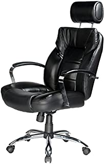 Comfort Products Commodore II Oversize Leather Chair with Adjustable Headrest, Black (B0039PCT48) | Amazon price tracker / tracking, Amazon price history charts, Amazon price watches, Amazon price drop alerts