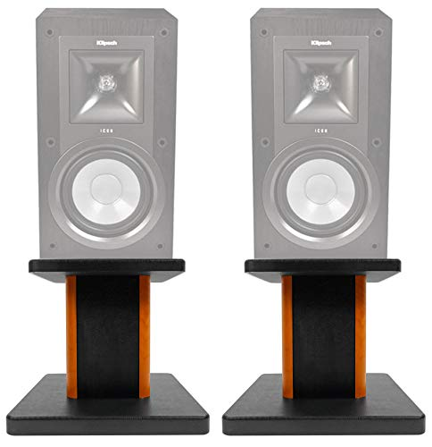 Buy Discount (2) 8 Wood Bookshelf Speaker Stands for Klipsch KB-15 Bookshelf Speakers