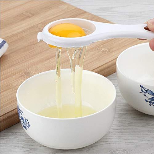 Filter Eiertrenner Eigelb wei/ß Trenner Koch-Werkzeug K/üchenhelfer f/ür K/üche Orange schnell und einfach wei/ß einfacher Eierfilter-Trenner Eigelb