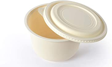 Ecomaniac: Eco-friendly bowl | Compostable Bowl | Disposable Bowl |Biodegradable bowl |580ml [50 Pcs] | Takeout Bowl Ideal for Soups, Stews, Pastas, Fruit salad and Steamed Veggies!