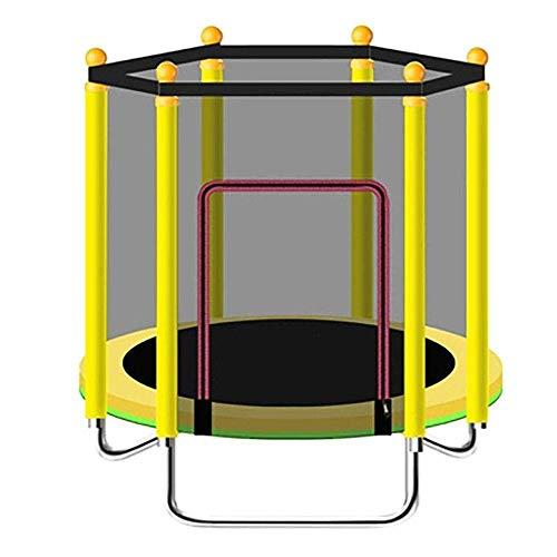 UIZSDIUZ Trampolín de los niños con el Resorte de la Capilla con Cerrado Neta Plegable de Interior/al Aire Libre del bebé del niño de Salto de Cama