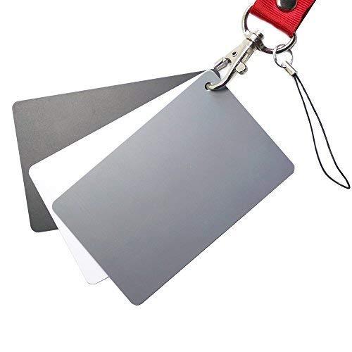 FOTYRIG グレーカードホワイトバランスカード18%露出写真カードカスタム較正カメラチェッカービデオ、 DSL...