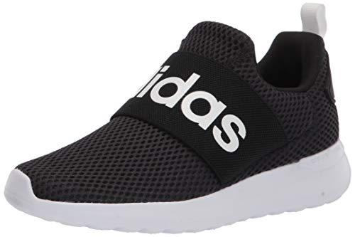 adidas unisex child Lite Racer Adapt 4.0 Running Shoes, Black/Black/White, 5 Big Kid US