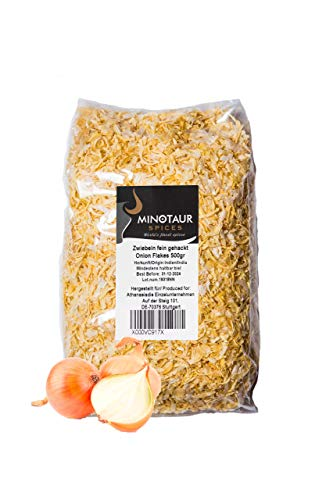 Minotaur Spices   Cebollas finamente picadas   2 X 500g (1 kg)   Copos de Cebolla Seca