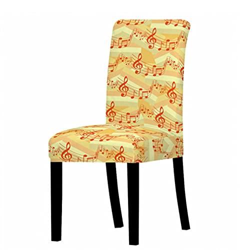 Funda para silla, 2 unidades de fundas elásticas para sillas de comedor, respaldo alto, funda protectora para silla de música