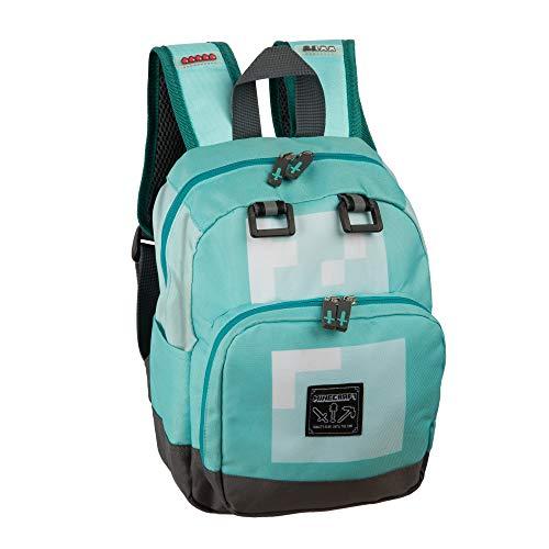 "JINX Minecraft Diamond Kids Mini Backpack, Blue, 12"""