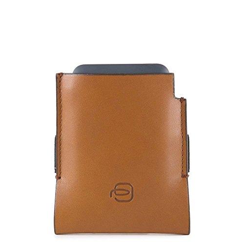 Piquadro, Unisex-Erwachsene Portemonnaie, Multicolore (Cuoio/Rosso) (Mehrfarbig) - AC4244BM/CUR
