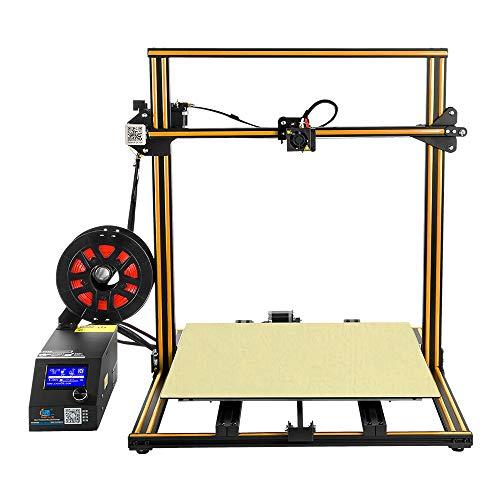HZYYZH Imprimante 3D, Impression Hors Ligne de Carte SD de Support d'imprimante 3D de Grande Taille de 500M * 500Mm * 500Mm DIY,Orange
