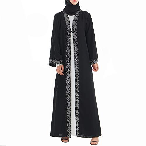 Mnvoa mussulman maxi-jurk voor vrouwen kimono open Abaya jurk kaftan Dubai moslim caftans elegante jurk lange jurk patchwork moslimen abaya jurk
