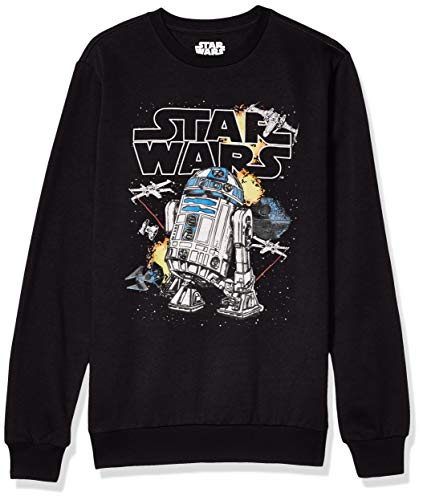 Star Wars Herren Sweatshirt, R2d2/Schwarz, Medium