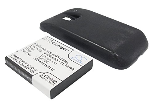 techgicoo 3500mAh/13,3Wh recargable compatible con Samsung Galaxy Ace 2, GT-I8160, GT-I8160P, Galaxy Ace2