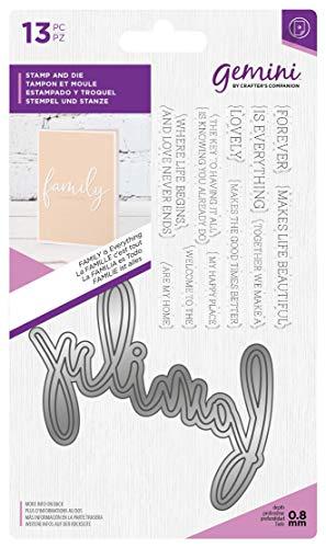Crafter's Companion Gemini Fancy lettertype Stempel & Die Set