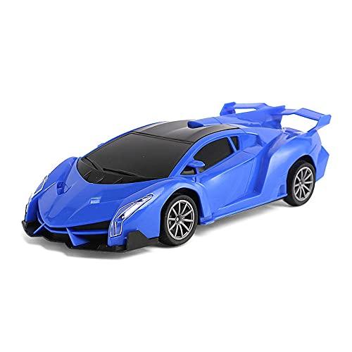 Simulación Coche de control remoto Coche de luz estéreo 3D 1:18 Coche de carreras eléctrico ABS de cuatro vías Coche de alta velocidad Hobby Coche de juguete Coche deportivo recargable de 2,4 GHz RC N