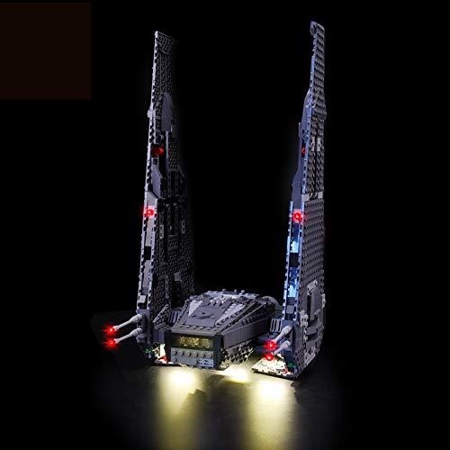 Kit De Iluminación Led para Lego Star Wars Kylo Ren's Command Shuttle, Compatible con Ladrillos De Construcción Lego Modelo 75104, NO Incluido En El Modelo
