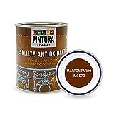 Pintura Marron pardo Antioxidante Exterior para Metal minio Pinturas Esmalte Antioxido para galvanizado, hierro, forja, barandilla, chapa para interiores y exteriores - Lata 750ml