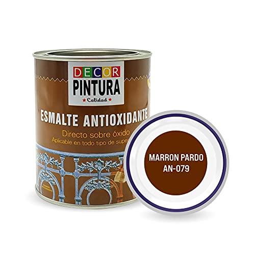 Pintura Marron pardo Antioxidante Exterior para Metal minio Pinturas Esmalte Antioxido para galvanizado, hierro, forja,...