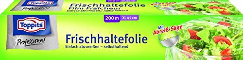 Toppits Frischhaltefolie 200 m in 45 cm Breite, 1er Pack (1 x 1 Stück) XL, inkl. Abreishilfe