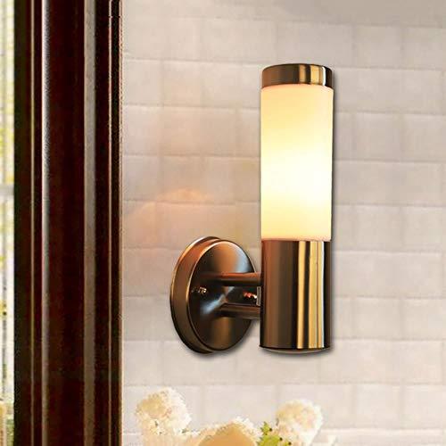 Metal Walkway Lights Stair Lights Muur licht for Bedside Glass Wandkandelaar Lightings moderne eenvoud wandlamp Style Wandlamp Wedstrijden for E27 Bollen