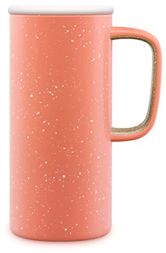 Ello Campy Vacuum Insulated Stainless Steel Water Bottle with Slider Lid, 16 oz, Georgia Peach