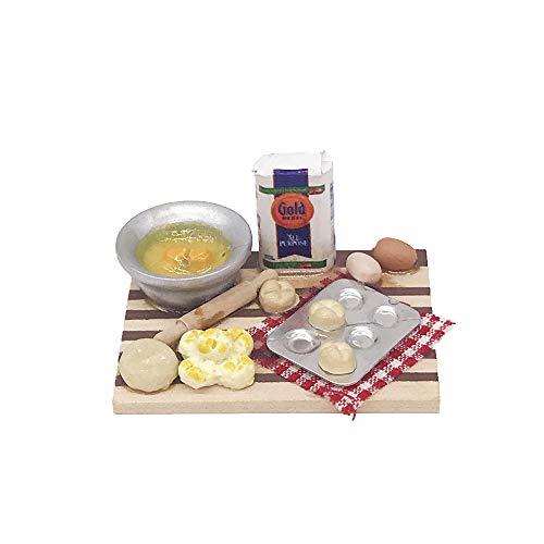 Comidox 1Pcs 1:12 Scale Dollhouse Mini Miniature Kitchen Accessories Cooking Dish Pastry Dollhouse Model