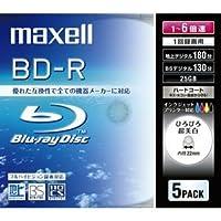 maxell 録画用 BD-R 130分 6倍速対応 インクジェットプリンタ対応ホワイト(ワイド印刷) 5枚 5mmケース入 BR25VWPC.5S