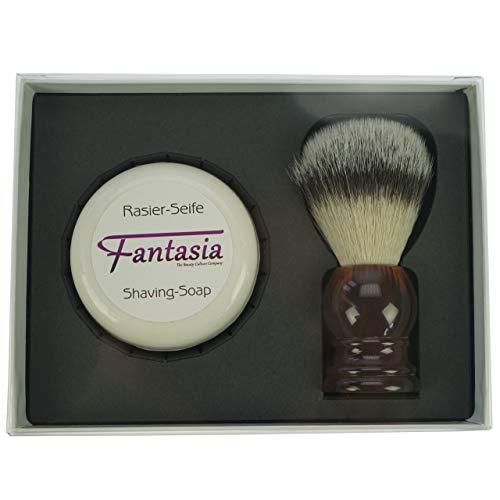 Fantasia Geschenkbox mit Rasierpinsel Synthetik + Rasierseife 100 g
